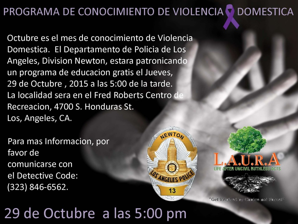 DV Awareness Spanish.10.29.15